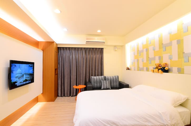 A慶祝~房東人氣評價200則~限時$999~享FUN假(免費接站/步行10分到車站)獨立衛浴/大空間 - Hualien City - Apartment