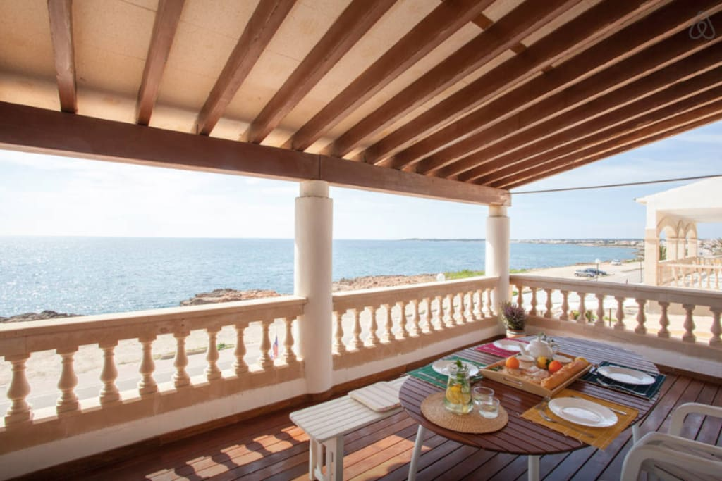 Terrace with the direct vews to the Sea and Cabrera Island