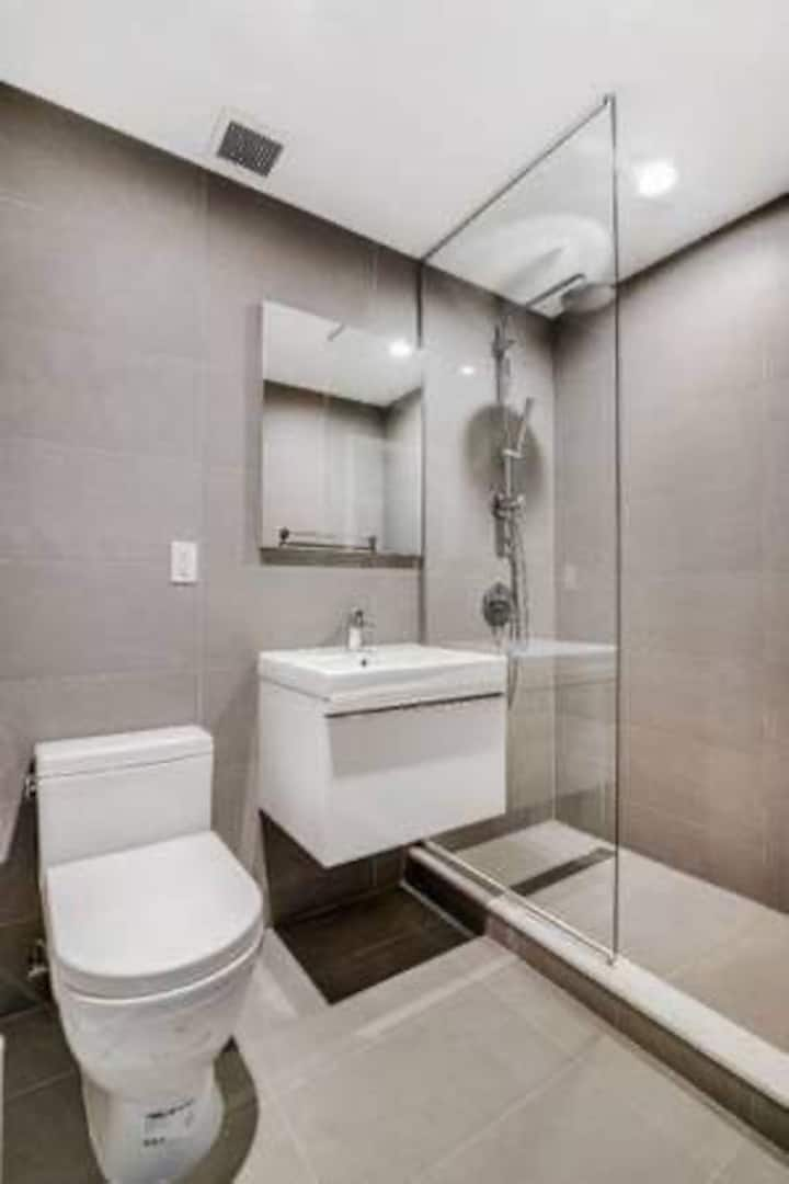 Master bedroom with private bath in best location