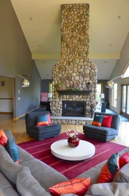 Formal  living area two, Stone chimney