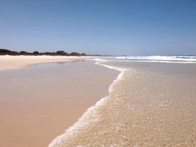 The beach through the national park over the road - called fern beach. It is pristine and is just as wide, clean and long north and south