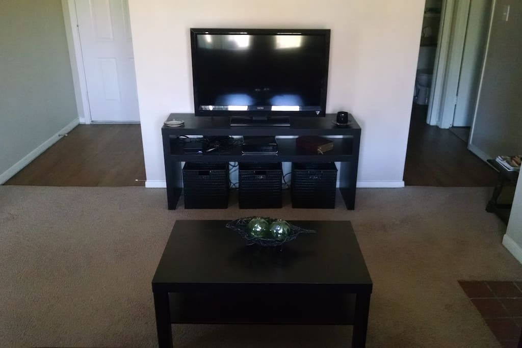 Widescreen TV with Roku for streaming