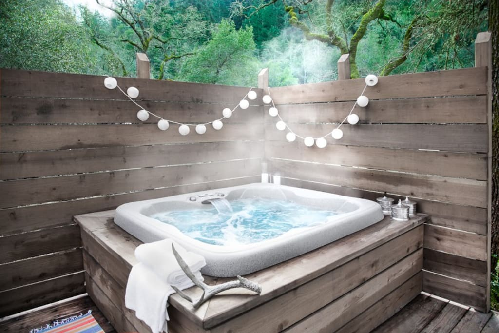 hot tub under the stars
