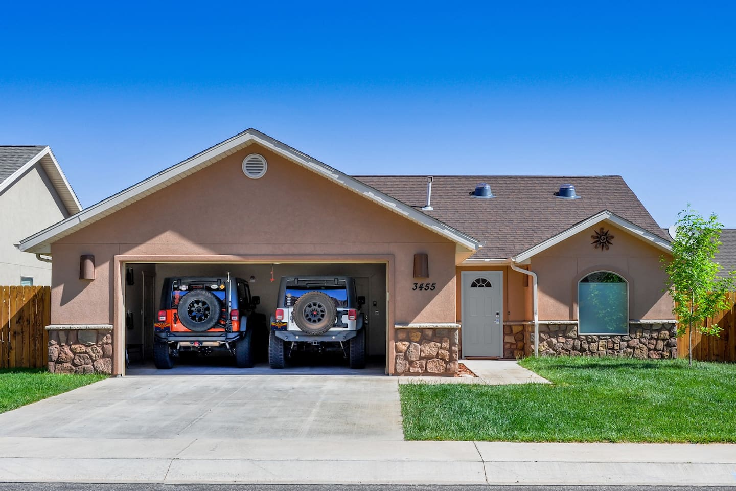 Stay at our detached, single family home with plenty of room for vehicles, bikes and ATVs.