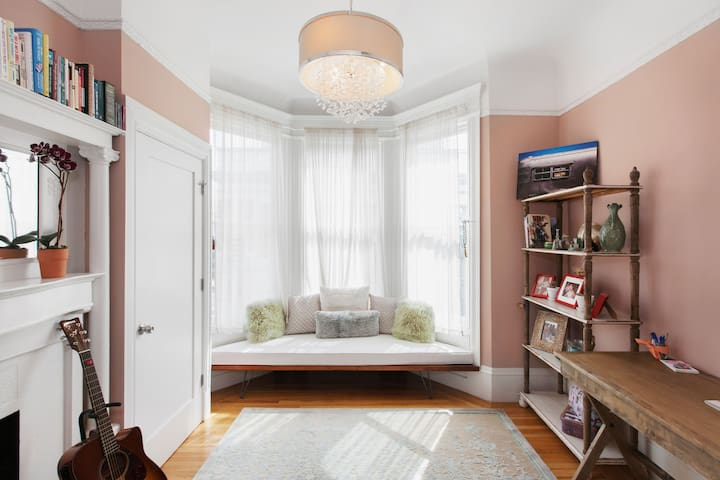 Relax in a Room in a Beautiful Victorian Condominium