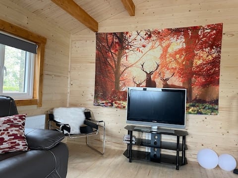 Log Cabin with Hot Tub/Large Patio Near Cork city