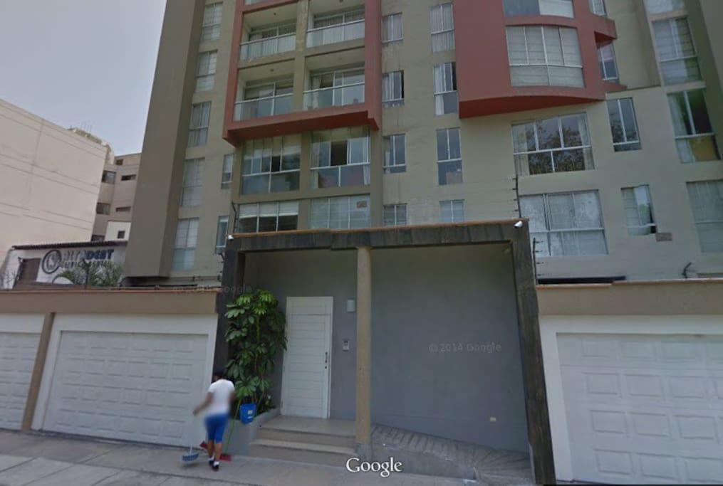 Mirada del Edificio desde Google Maps