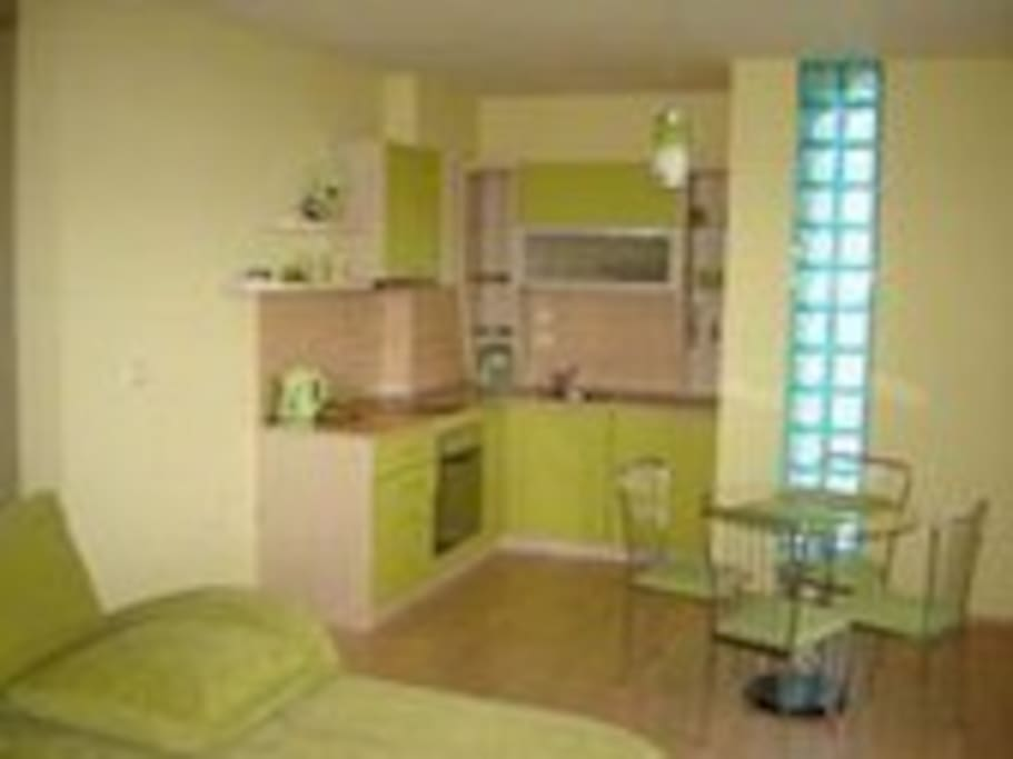 nice elegant sitting hall with fully equipped kitchen