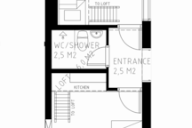 Situation plan showing proportions and measuremeans of each room.