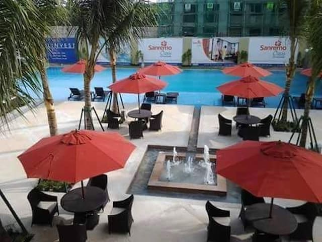 At Swimming pool with elegant view
