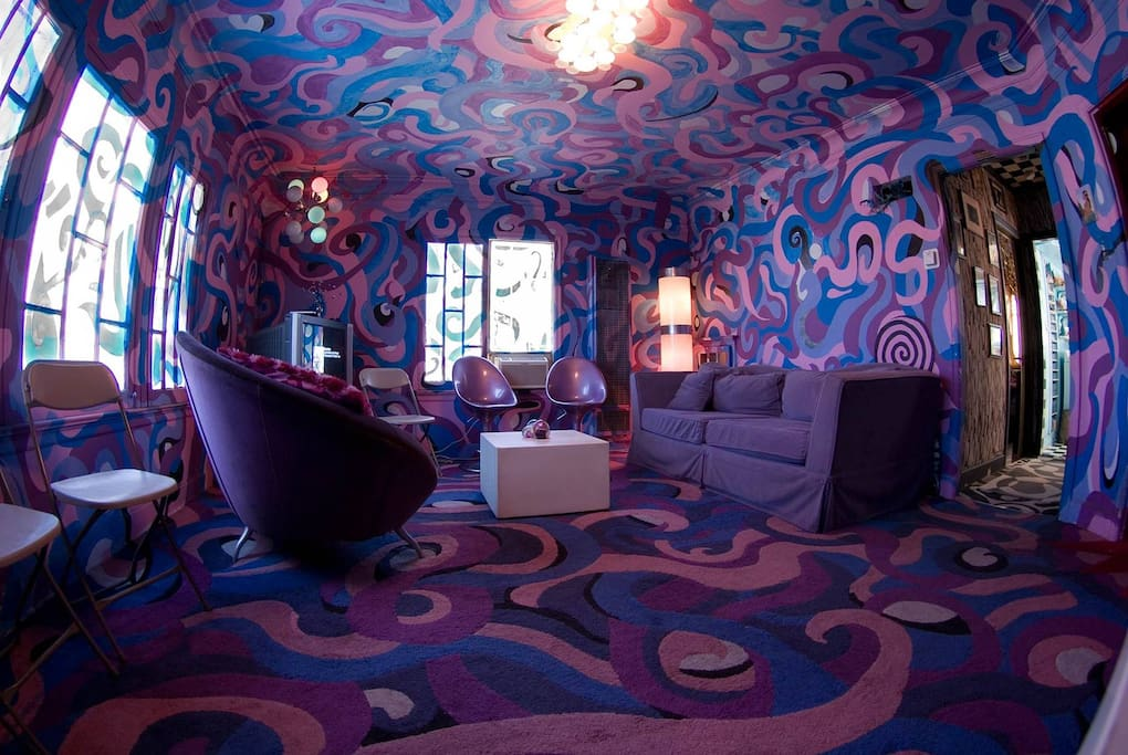 The Pucci swirl living room, actually inspired from a Jodorowsky graphic novel.