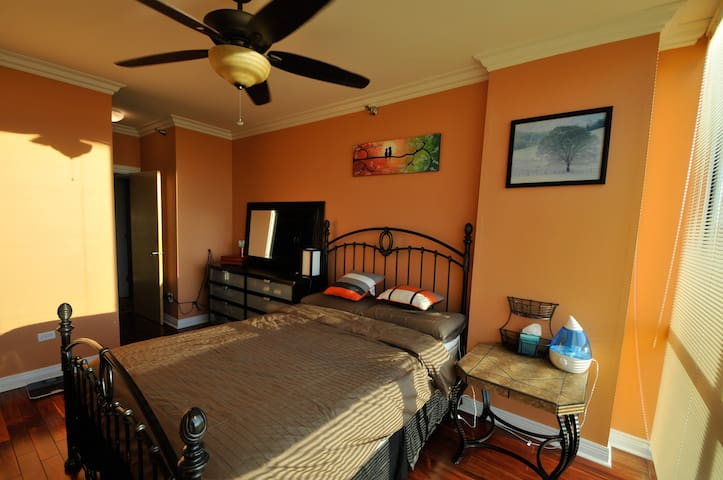 Luxury bedroom on Michigan Ave