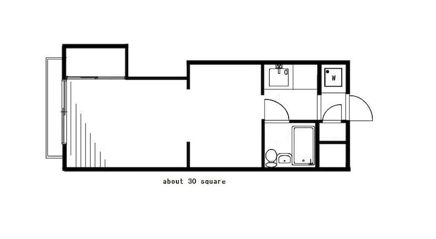 The room has 30 square! Great space:)
