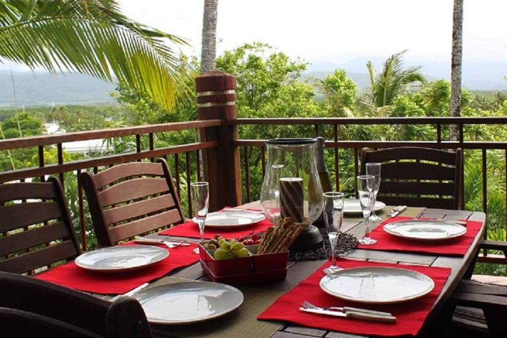 Enjoy outdoor dining on your Top Level Balcony