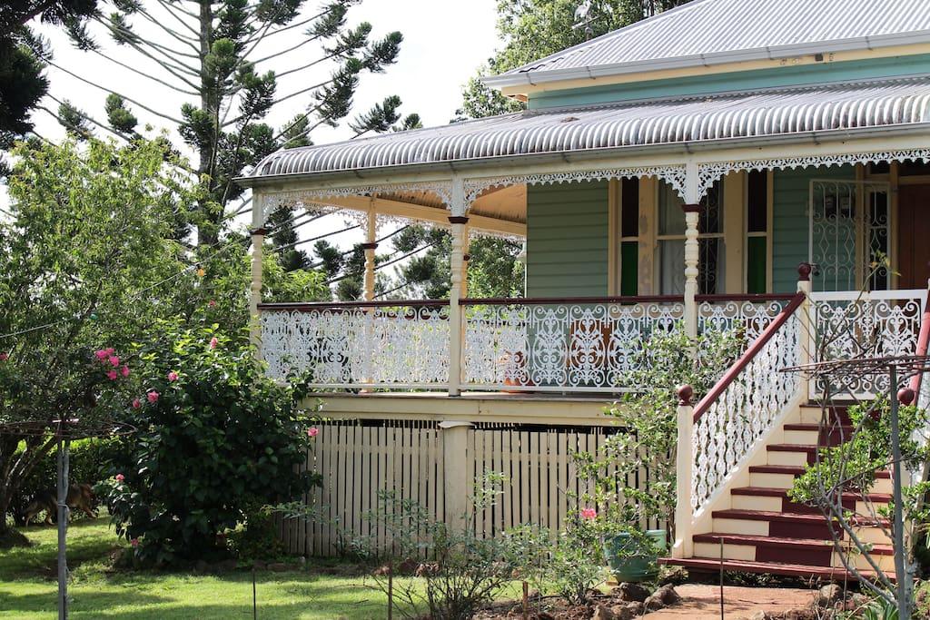 Front veranda and garden.