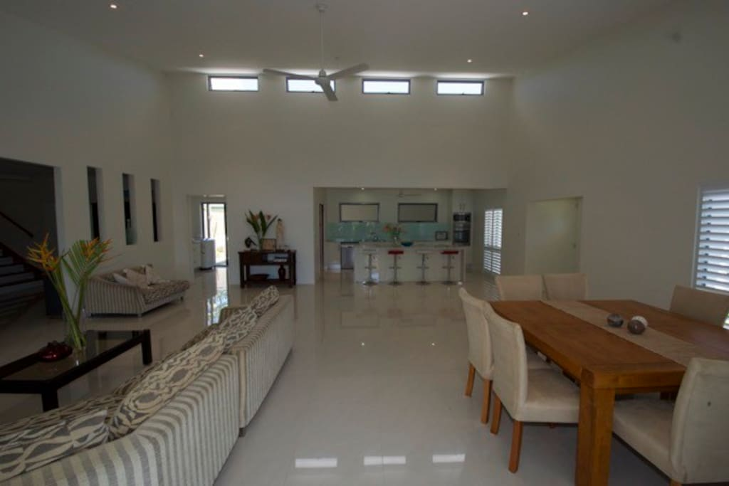 The Dinning, Living and Kitchen area