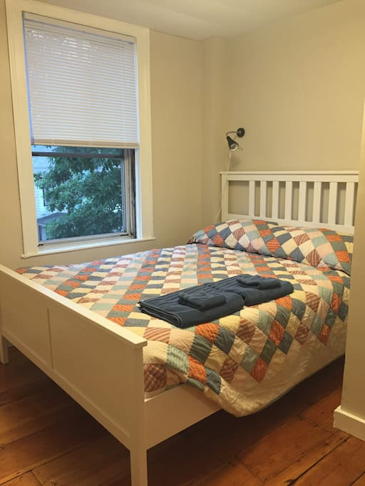 The second bedroom has a queen size memory foam bed