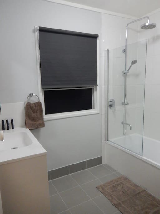 Recently renovated bathroom and toilet for your private use.