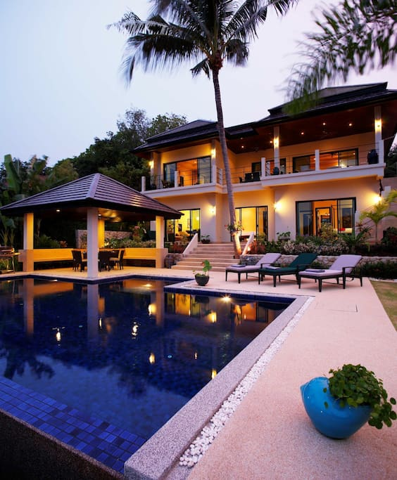 Inviting swimming pool and sun deck