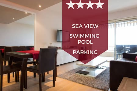 ☀️ FACING THE SEA ☀️  Terrace, swimming pool & parking ☀ Cannes Palm Beach