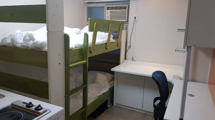 Near Sinchon station. Female only. dormitory for 2