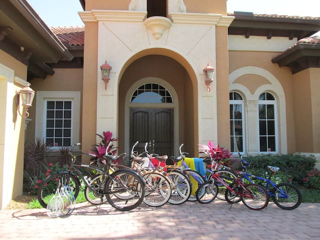 Enjoy cycling around the resort with complimentary bikes. 2 new additional bikes not in photo