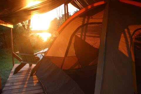 BYOT Covered Tent Platform - Sunset & Lake Views