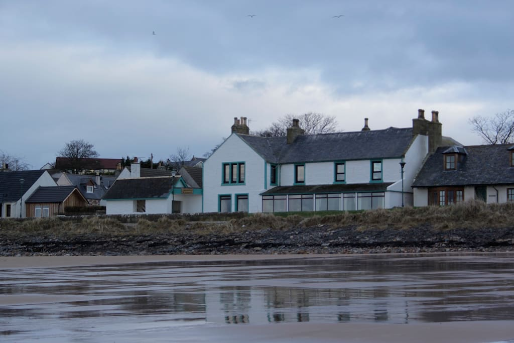 Caledonian House from the beach