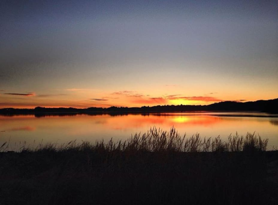 Sunset viewing on the water, within walking distance. Studio interior photos-coming soon!