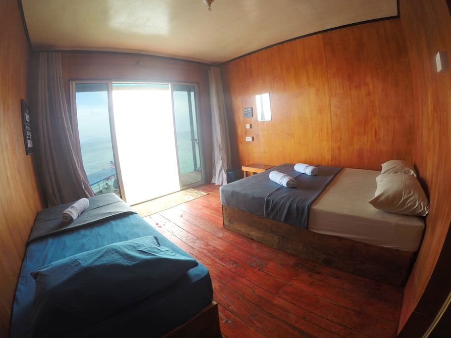 Spacious bedroom with attached bathroom