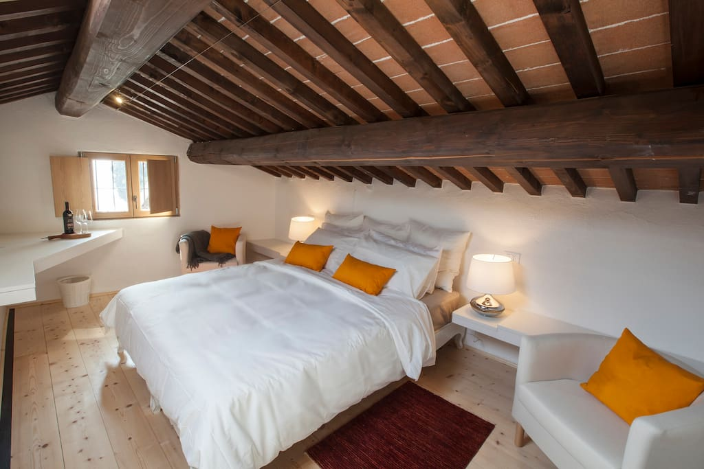 * loft with queen size bed
