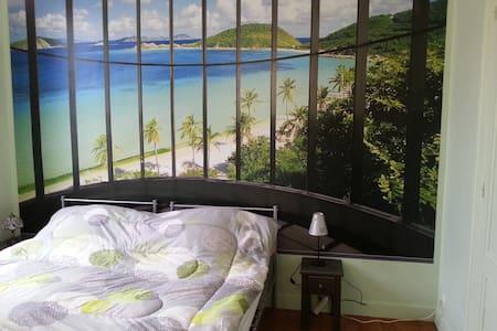 Chambre ambiance Jardin secret - Saint-André-de-Cubzac - Bed & Breakfast