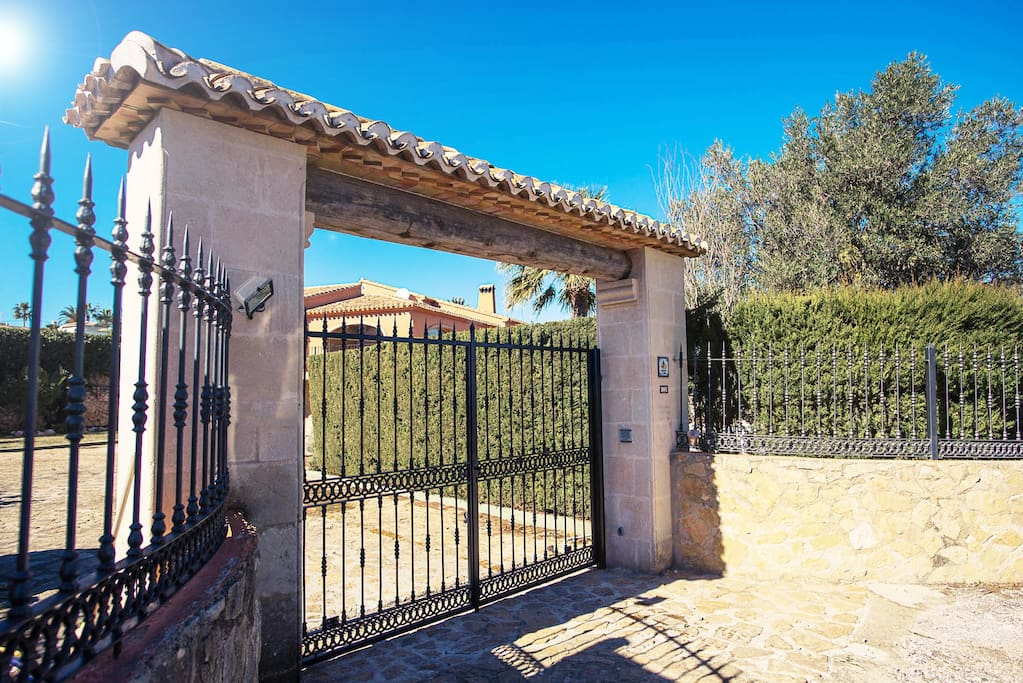 Gated, fenced, walled property