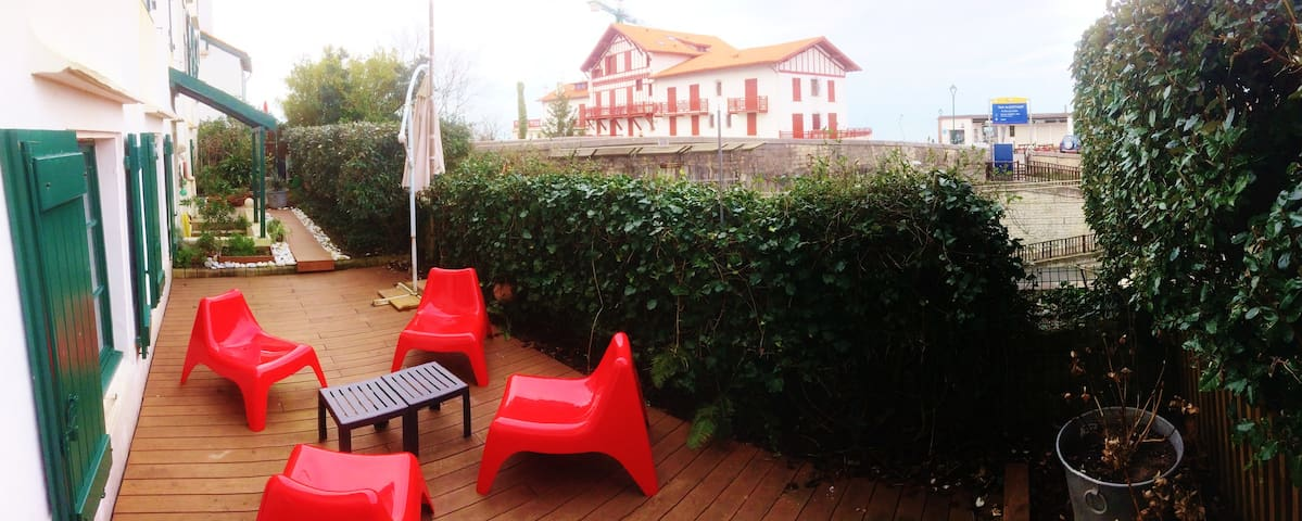T3 coeur de Guethary,terrasse,jardin,plage à pied - Guéthary - Apartment