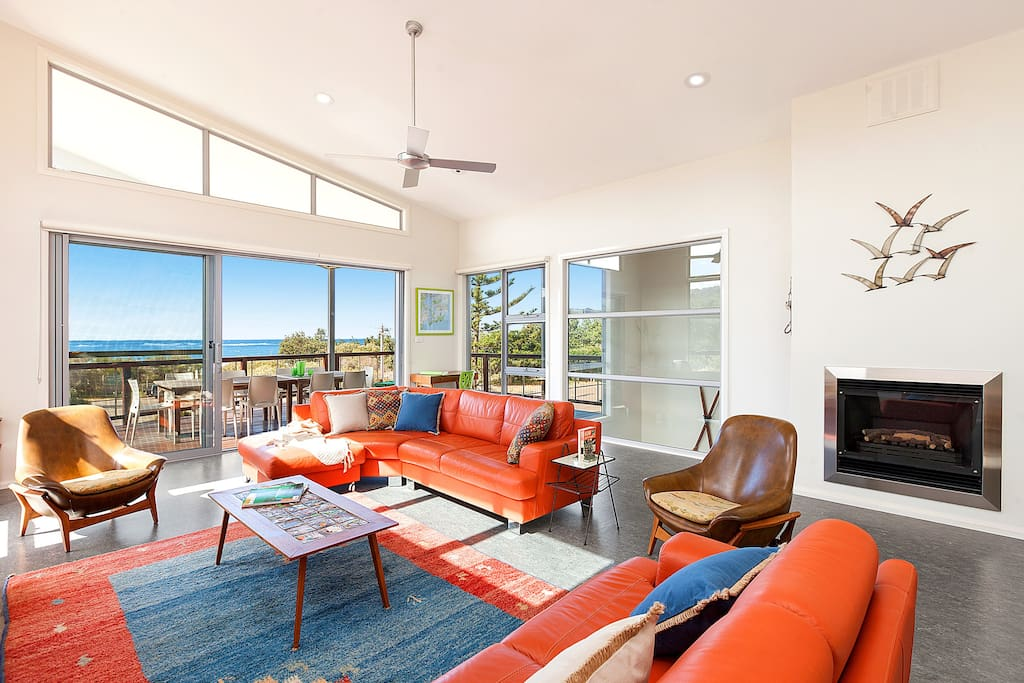 Enjoy the beach views and ocean breezes from the lounge