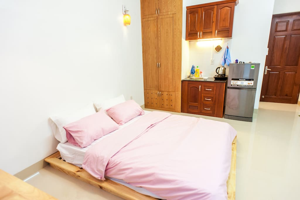Super cozy room with cozy bed, you will feel as home