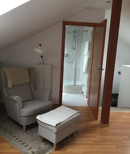 Large attic room in Luxembourg Kirchberg