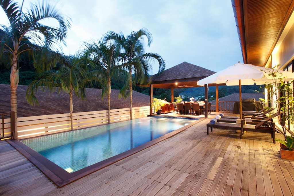 Private and peaceful sundeck and relaxing swimming pool