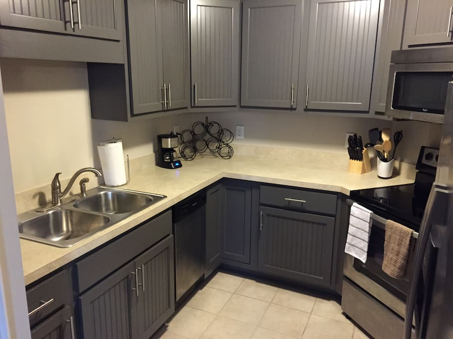 Great kitchen that has all the amenities from your home including ice maker and dishwasher, smooth top stove and a disposal.