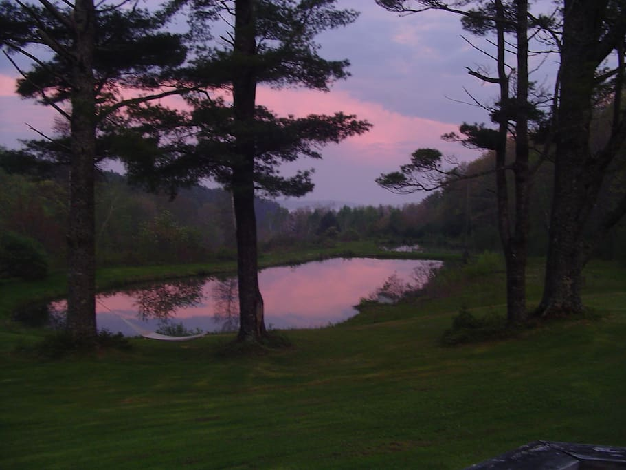 Sunset over the Sheepscot