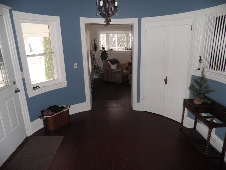 Circular foyer when entering the home