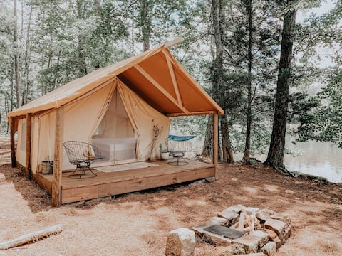 Private Waterfront Glamping Minutes from Atlanta