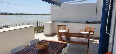 Biggio huis, appartement met uitzicht op de zoutpannen.