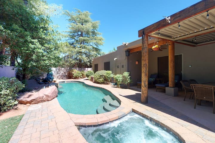 Picturesque home w/ private pool, hot tub & grill in a tranquil backyard!