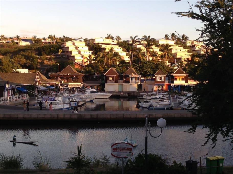 Belle vue sur le port de plaisance de Saint Gilles les Bains, confort et calme