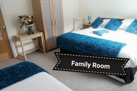 Family friendly B&B located between Ballyshannon & Belleek (Co.Fermanagh). Quiet country environment but within all local amenities, golfing, fishing, horse-ridding, surfing, and local festivals & night life. Price is per person per night.