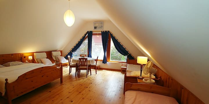 Grande chambre d'hôtes dans environnement boisé !