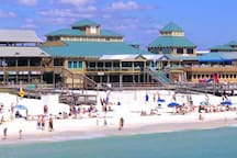 A totally different scene, the Okaloosa Island Boardwalk offers fun beachfront eats; an incredible fishing pier; good surfing; and the area's most competitive beach volleyball.  Just a quick 6 miles from Mojo.