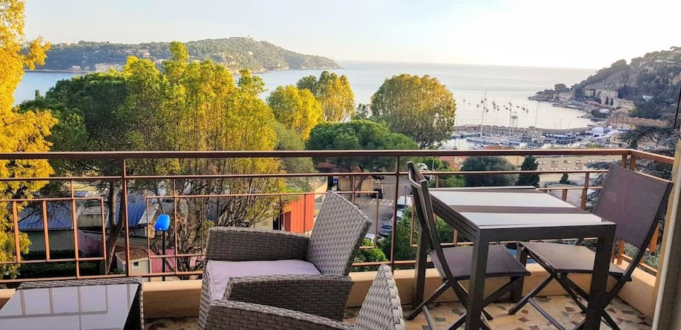 Villefranche center Bay & panoramic Sea view