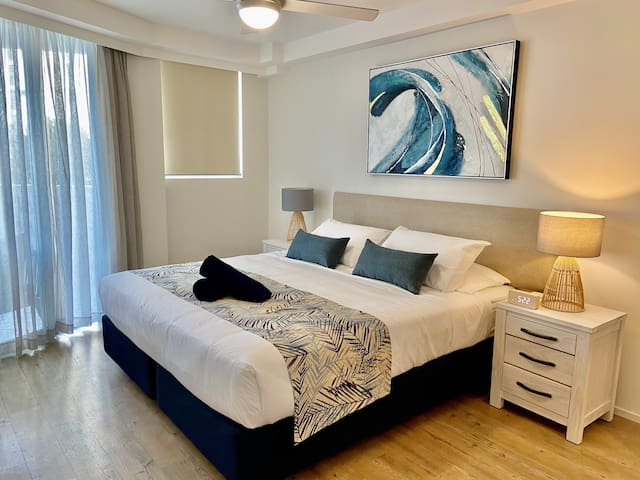Luxurious and spacious master suite with its own ensuite. And a sliding door straight out to the balcony area.
